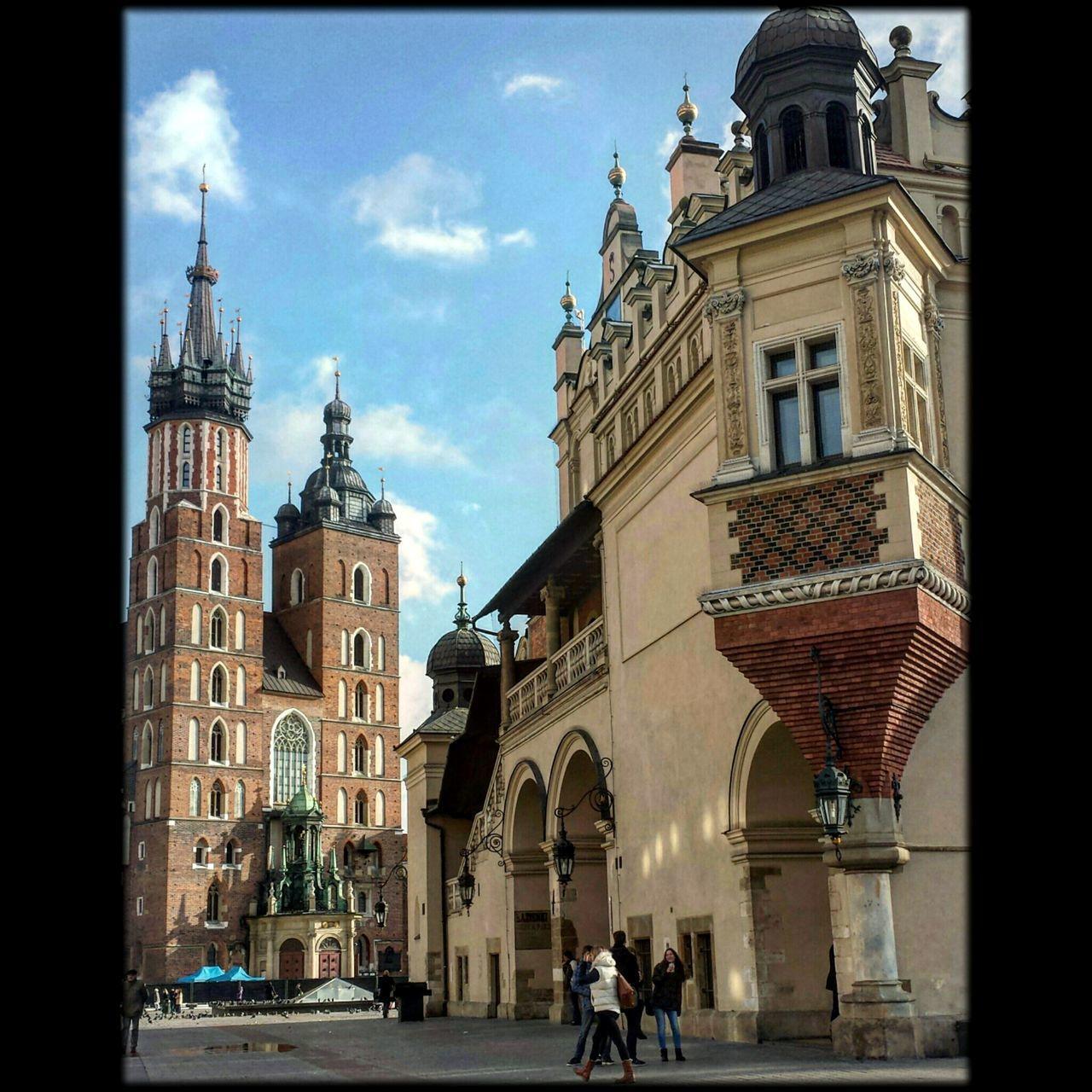 Lovin' Kraków... Architecture Travel Destinations Built Structure City Sky Cityscape Kraków, Poland Clock Tower Town Square Architecture Poland Krakow Cityscape Main Square Tower Travel City History Building Exterior