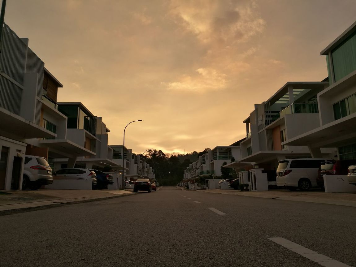 Dusk at home Sunset Street Outdoors No People Kinrara Puchong