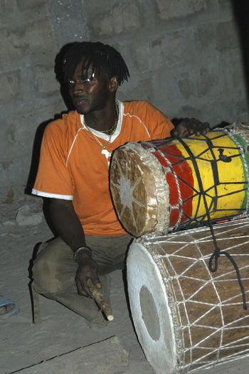 Party time in Niafrang Senegal Music Niafarang Niafourang Niafrang West Africa Africa Casamance Casual Clothing Musical Instrument Musician One Person People Real People Sen