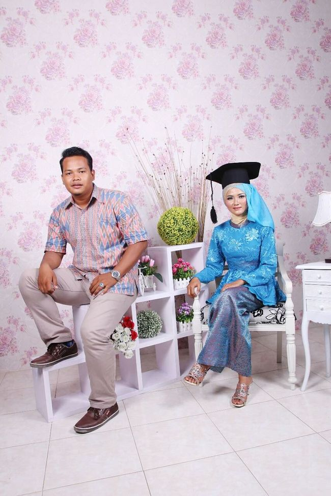 With my special woman Graduation Hello World