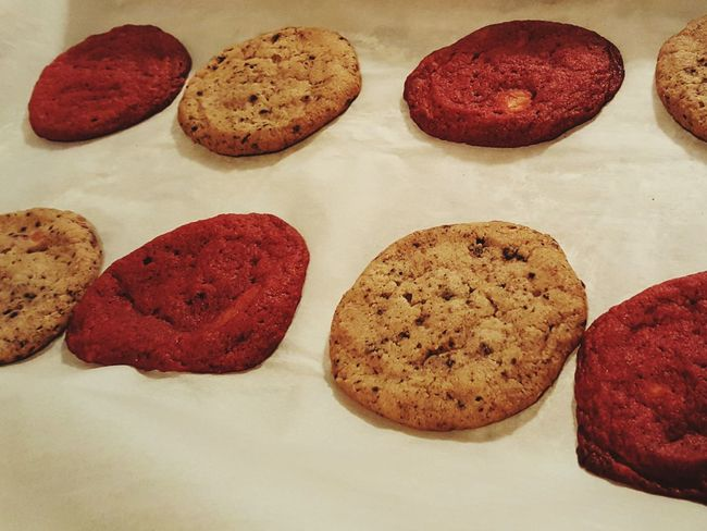 Cookies and cream & red velvet cookies. What an odd combination!