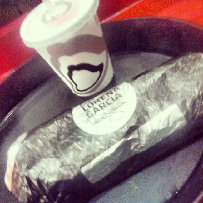after I clock out of work, my co-worker thought of me and bought me a Cantina Burrito (:  Afterwork Longday Typhoonfreeze CantinaBurrito CoWorkerBoughtMeDinner HowSweet Delicious