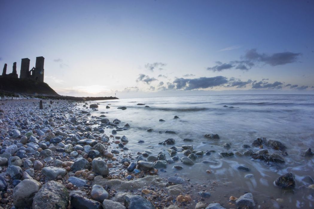 Sea Beach Nature Water Sky Horizon Over Water Beauty In Nature Shore Pebble Scenics Pebble Beach Coastline No People Outdoors Tranquil Scene Day Wave Stones & Water Broadstairs Kent Reculver Visit England Roman Ruins
