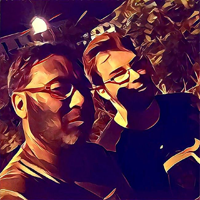 Nightphotography Father And Son Prisma