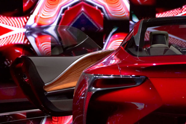 Brake Lights Car Concept Detroit Auto Show 2012 Mode Of Transport Red