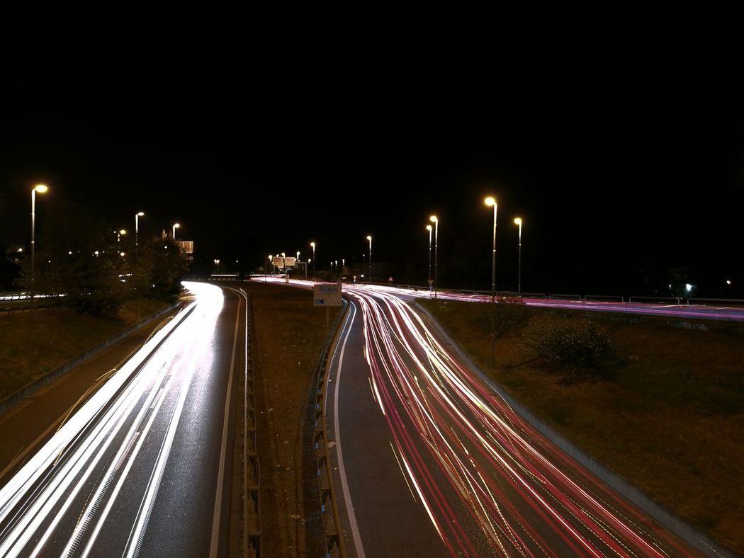 Night Nightphotography Car Car Lights Transport Light Painting Shadow City City Cars City Life Outskirts Dark Sky