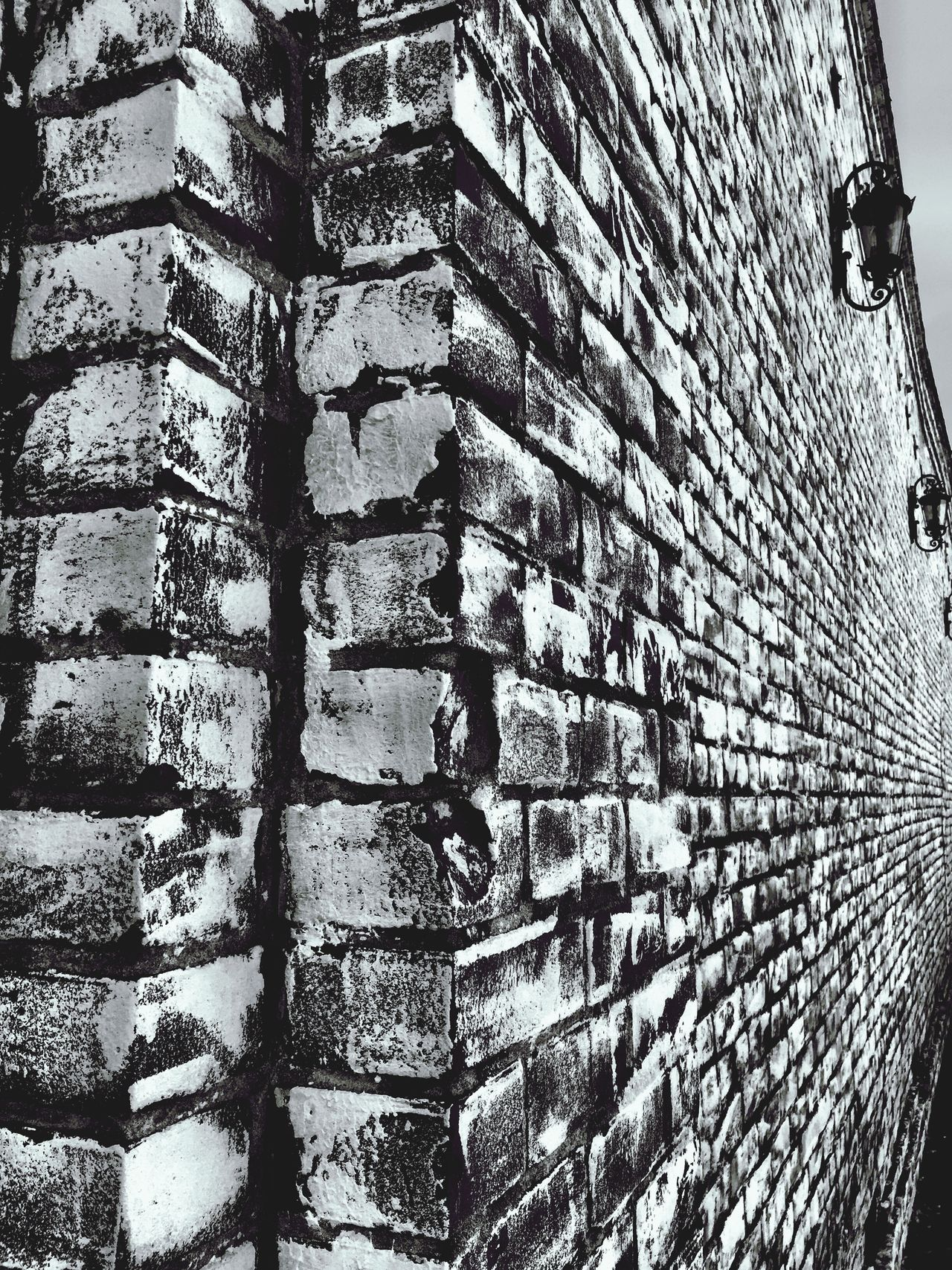 """Infinite Brick"" Brick Bricks Brick Wall Brickporn Brick Building Blackandwhite Black And White Black & White Blackandwhite Photography"
