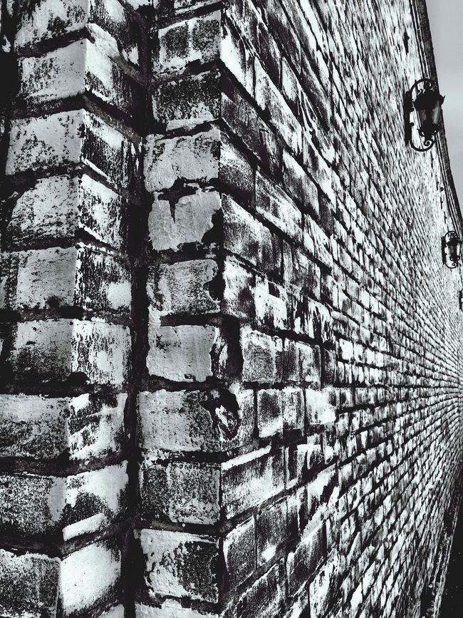 """Infinite Brick"" Brick Bricks Brick Wall Brickporn Brick Building Blackandwhite Black And White Black & White Blackandwhite Photography"