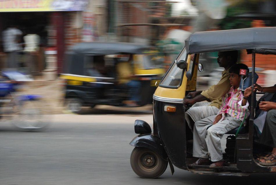 Auto-rickshaw Bajaj Blurred Motion City Day On The Move Public Transportation Transportation Travel EyeEmNewHere