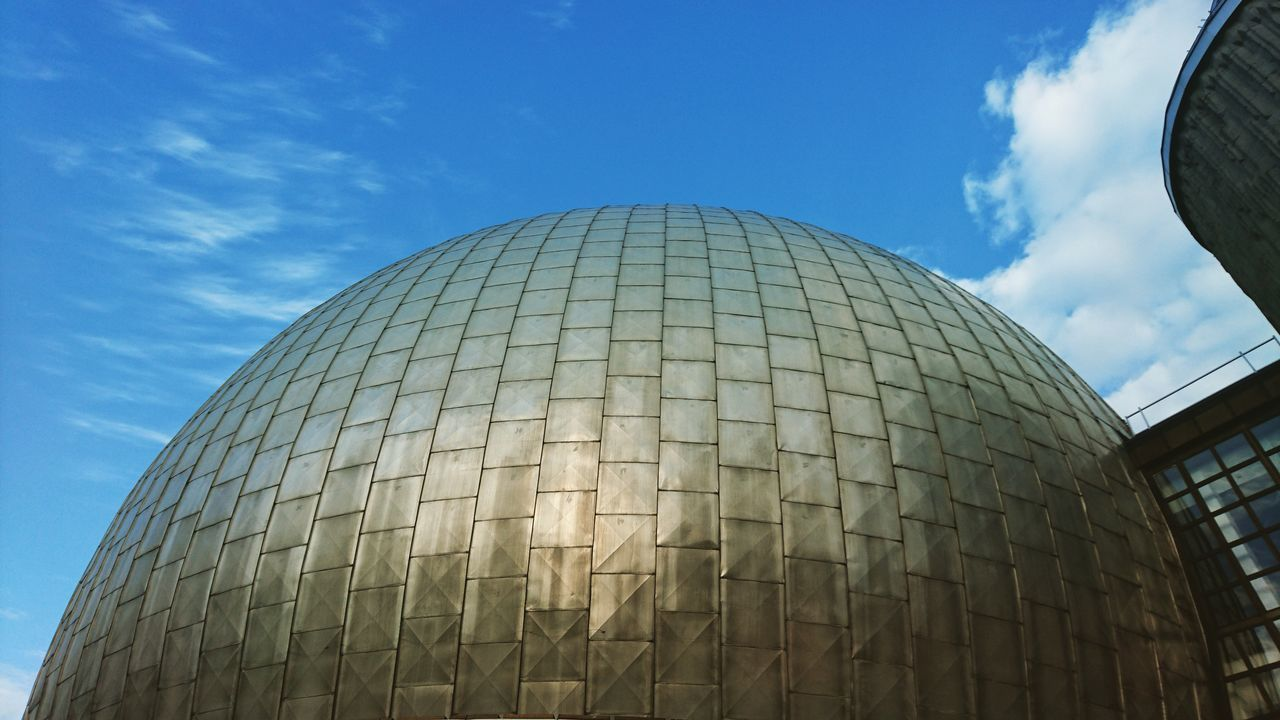 Live discovering places. Architecture Modern Built Structure Dome Low Angle View Building Exterior Outdoors Sky Planetarium