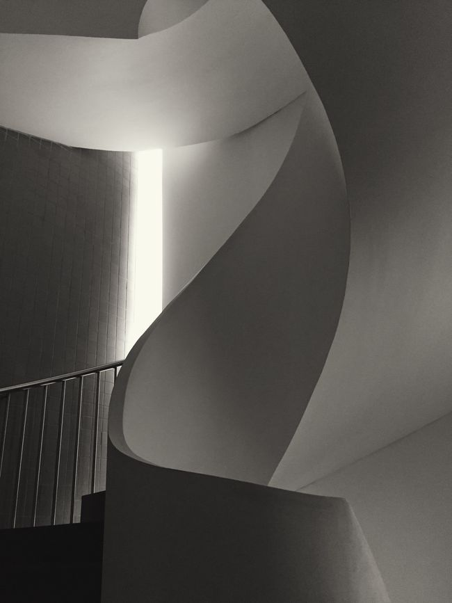 Staircase Blackandwhite Monochrome Abstract Minimalism Architecture