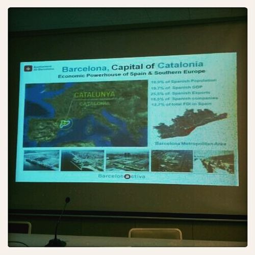 We get some basic overview about the economy in Barcelona and Catalonia. #poap #nicetoknow