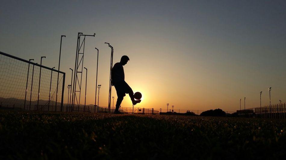 Beautiful stock photos of football, , Agility, Dusk, Full Length