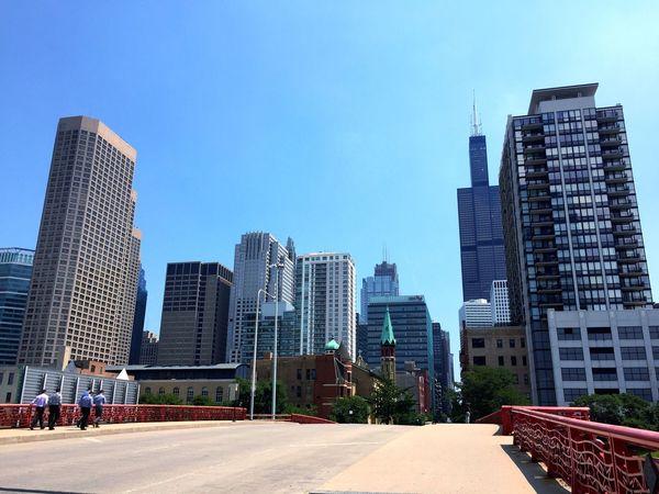 Architecture Built Structure City Sky Blue Cityscape Trip Memories USA Chicago
