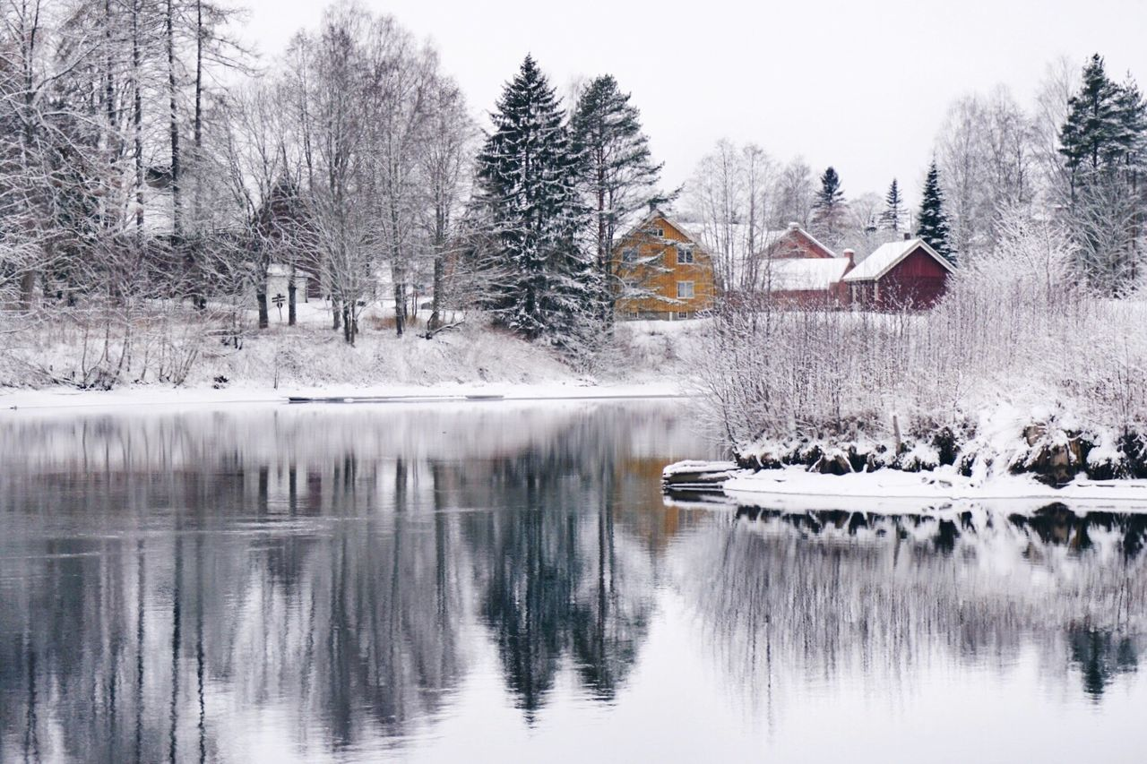 One winter morning Winter Cold Temperature Snow Reflection Nature Tranquil Scene Tranquility Beauty In Nature Norway Visitnorway Winterwonderland Nature Beauty In Nature Landscape