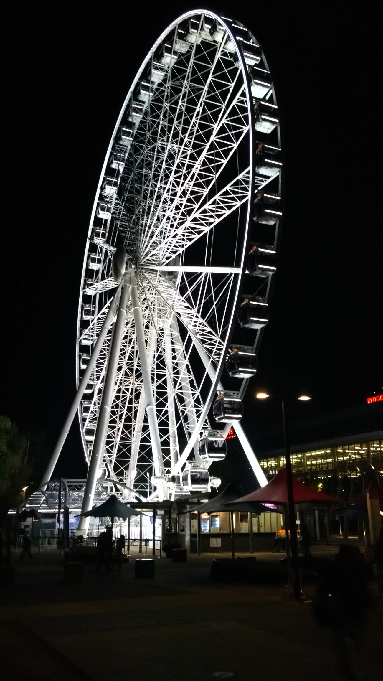 Wheel of Brisbane. EyeEm 2016 Large Built Structure Ferris Wheel Illuminated Low Angle View Outdoors From My Point Of View Taking PhotosCheck This Out Travel Photography The Purist (no Edit, No Filter) Mesmerized Mobilephotography in Brisbane, Australia