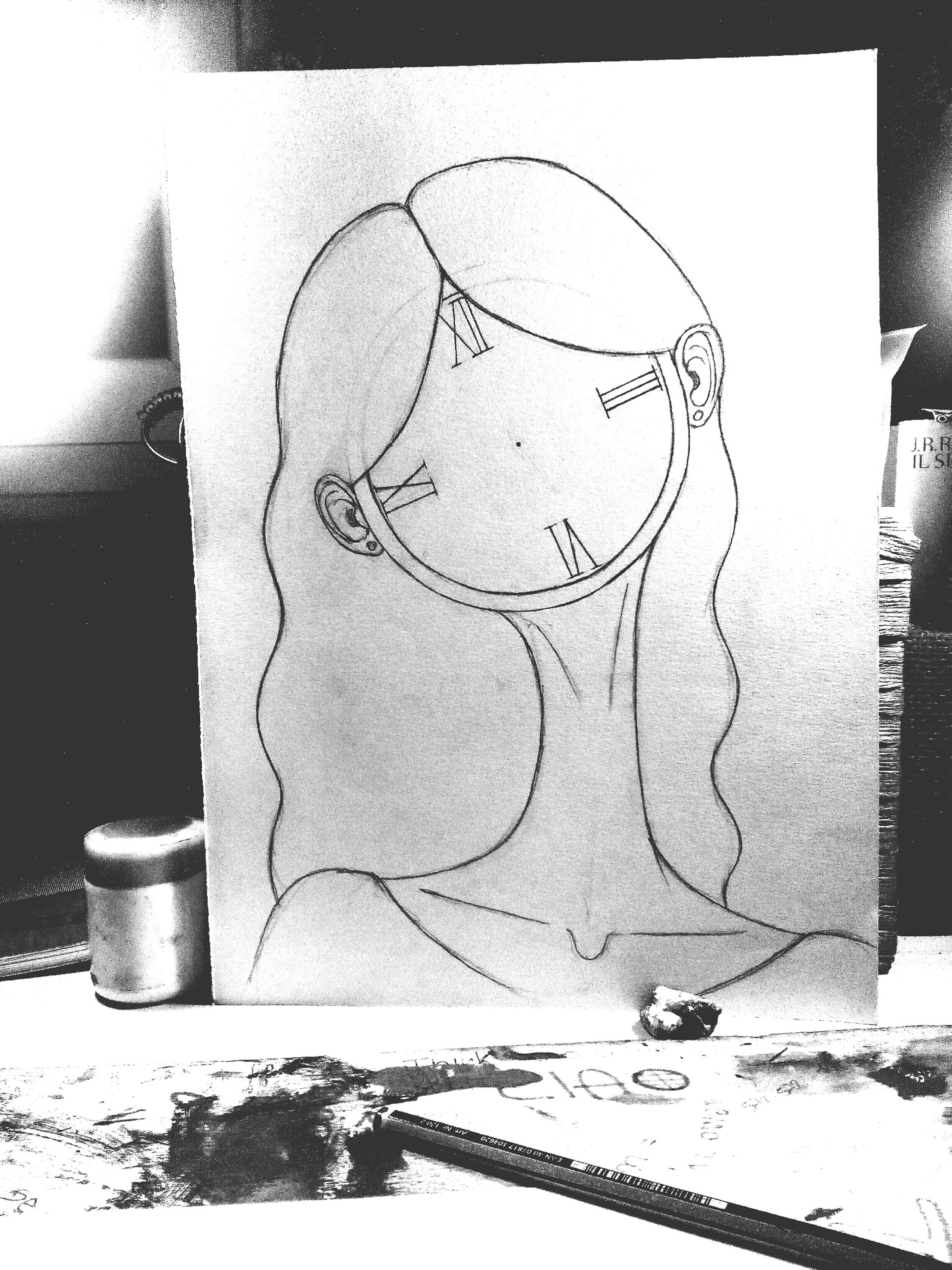 Lady Clok Drowning Imagination Free Imagination
