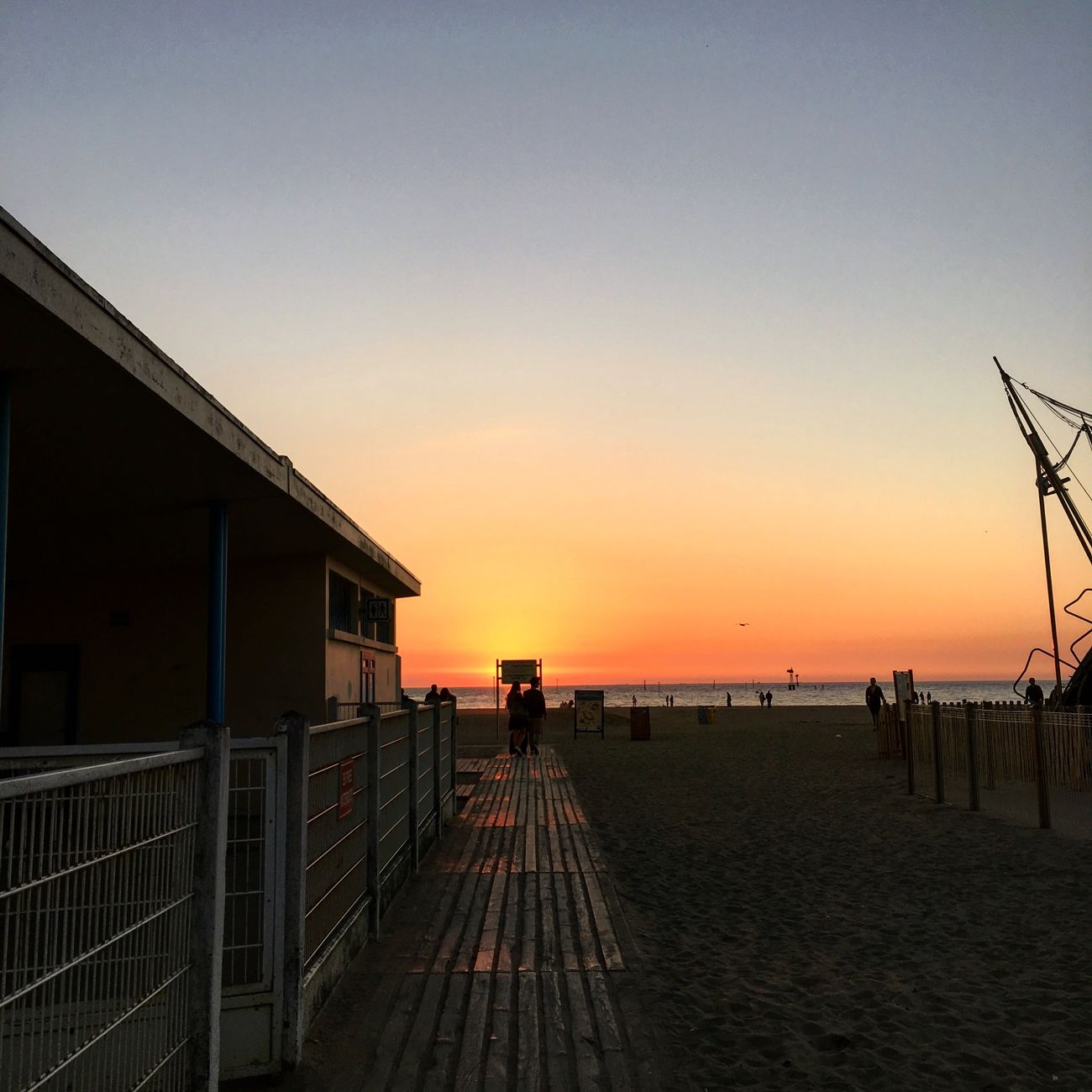 Deauville ❤️ Sunset Landscape Sea Water Clear Sky Beach Sky Architecture Colorful