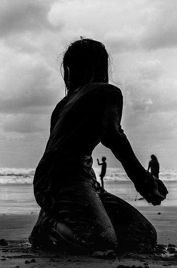 Beach play Cloud - Sky Water Outdoors Sea Life In Motion Light And Shadow People Photography Streetphotography