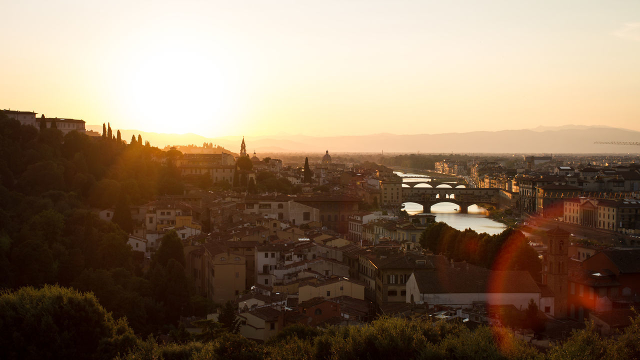 Florence at it's best Architecture Sunset Residential Structure High Angle View Cityscape Florence Italy Toscany City Old Beauty