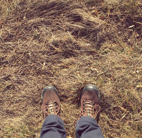 Shoe Standing Low Section Human Body Part Human Leg Grass Outdoors One Person Sun Grass Autumn Foot Nature Adult People