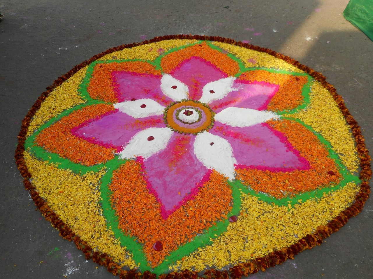 Art Colorful Colorful Rangoli. Sunshine