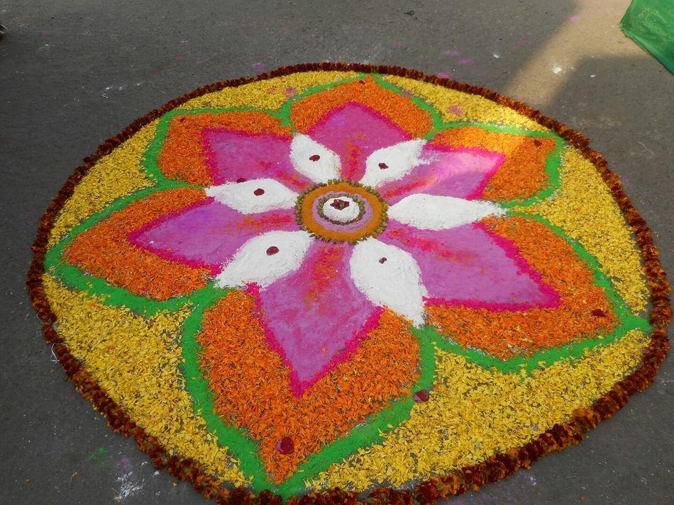 Art Colorful Colorful Rangoli. Sunshine