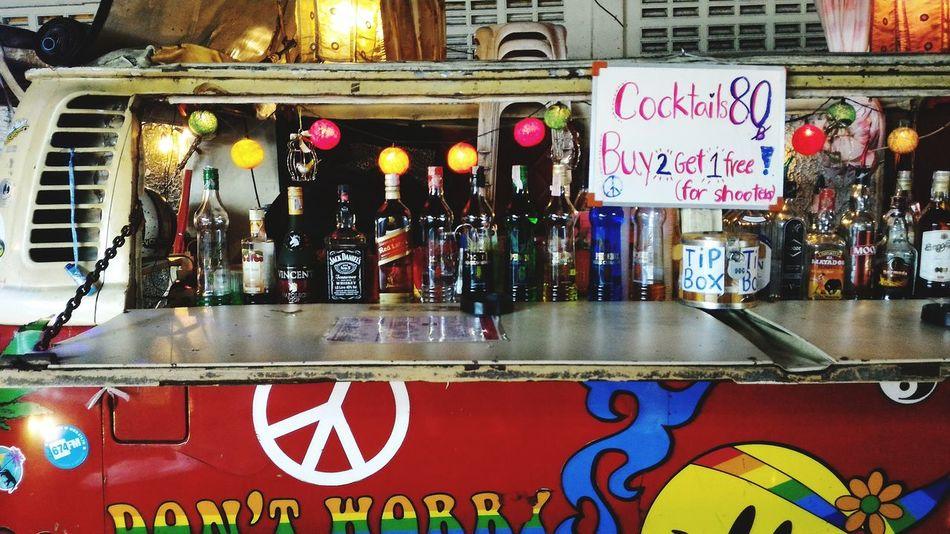 Traveling Travel Destinations City Life Leisure Activity Bar Wolkswagen Van Nighyphotography Bangkok Thailand