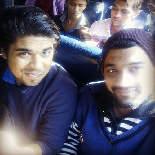 Random Selfie on our way to Banswara Coolness Overload MenInBlue