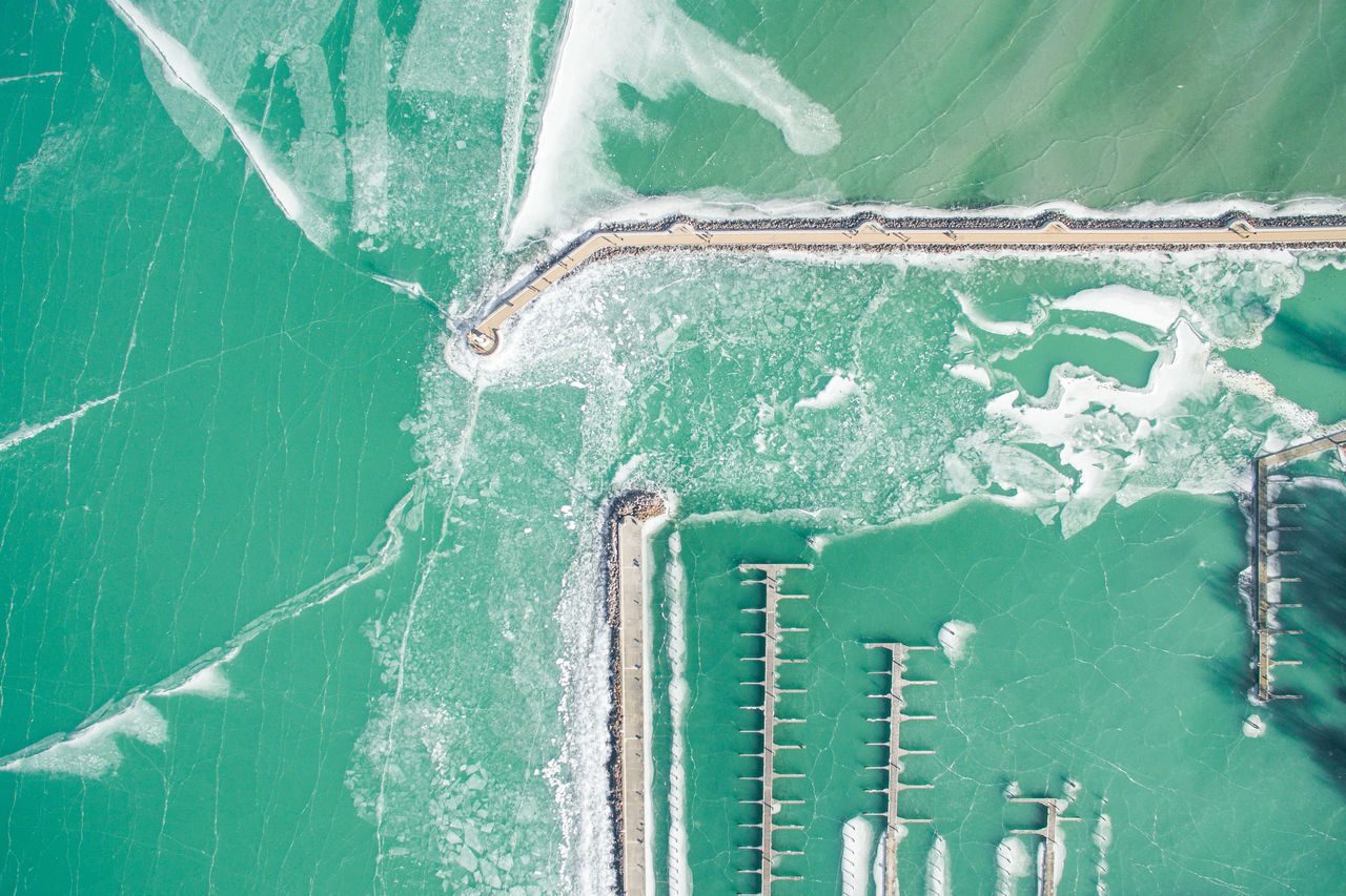 above abstract backgrounds close-up day Drone dronephotography full frame Green color Harbor Harbour Nature no people outdoors Textured Fresh on Market 2017