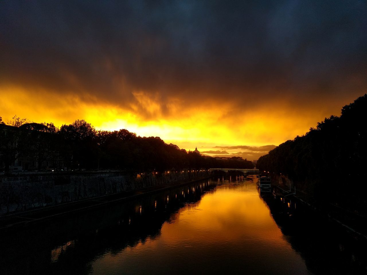 No filter Reflection Sunset