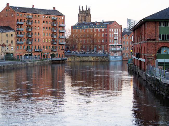 calls landing in leeds from the river aire Aire Architecture Building Exterior Built Structure City Day Leeds No People Outdoors Rive Aire Sky Water Yorkshire