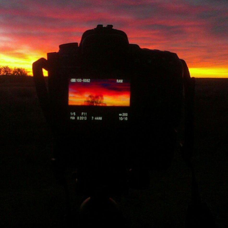 Photographing the Colorado Sunrise this morning Btl Sky Denver landscape nature