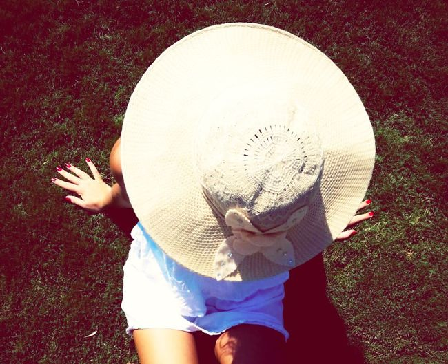 Summer Girl Hat Big Hat Enjoying Life Relaxing That's Me Green Seaside Happiness Bodrum Holiday♡ White Dress White