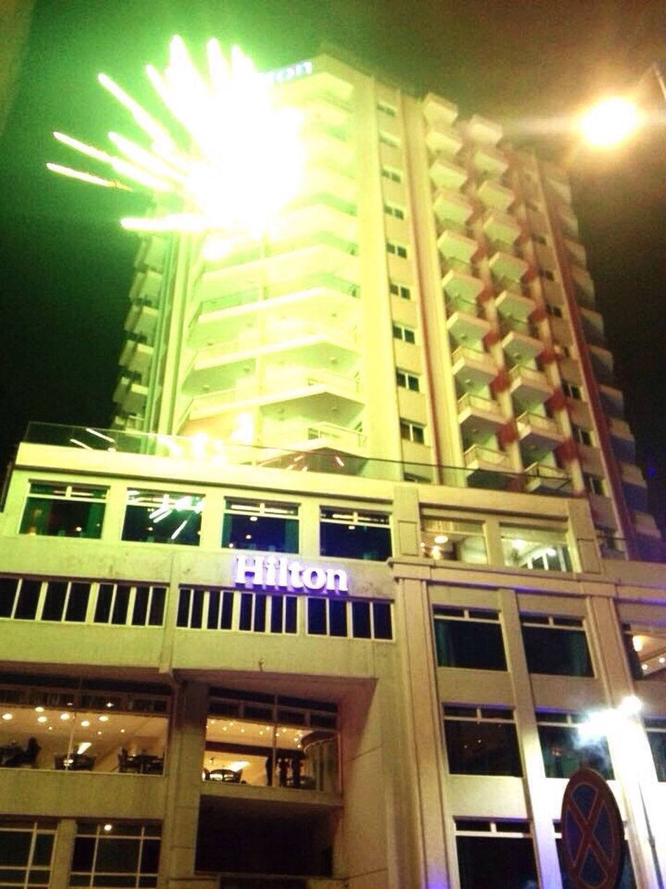 Architecture Low Angle View Built Structure Building Exterior No People Illuminated Text Indoors  Night Hiltonhotel Searoad