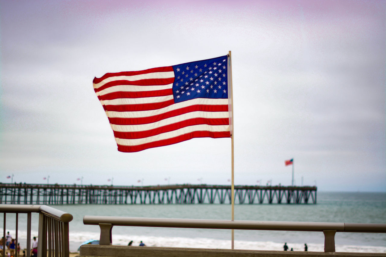 Beautiful stock photos of 4th of july, American Flag, Beach, Built Structure, Camarillo