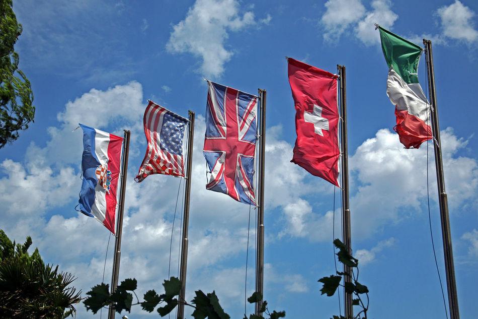 Punat, Krk, Croatia Adriatic Coast Bindings Croatia Dry Docks Europe Flags Flags In The Wind  Island Krk Krk  Marina Nature Punat Rusty Sea Sea And Sky Summer