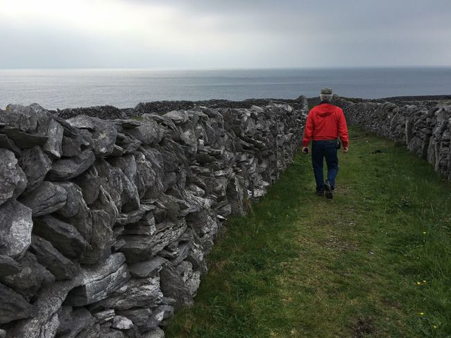 The Journey Is The Destination Walking Around Out For A Walk Aran Islands Stone Wall On The Way Adventure Club Colour Of Life People And Places