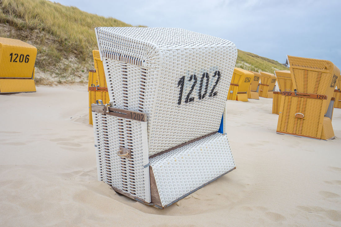Beach Beauty In Nature Chair Chairs Cloud Cloud - Sky Clouds And Sky Day Enjoy Enjoying Life Germany Having Fun Nature No People Number Outdoors Ready For Summer Sand Sky Sky And Clouds Summer Sylt Vacation