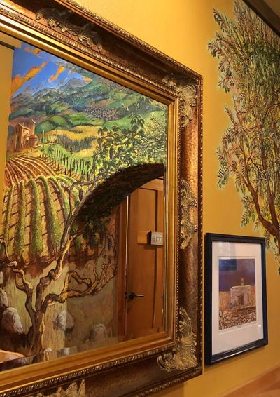 Mural —reflection—mirror—light Indoors  Museum History Travel Destinations Architecture No People Built Structure Tree Day Close-up