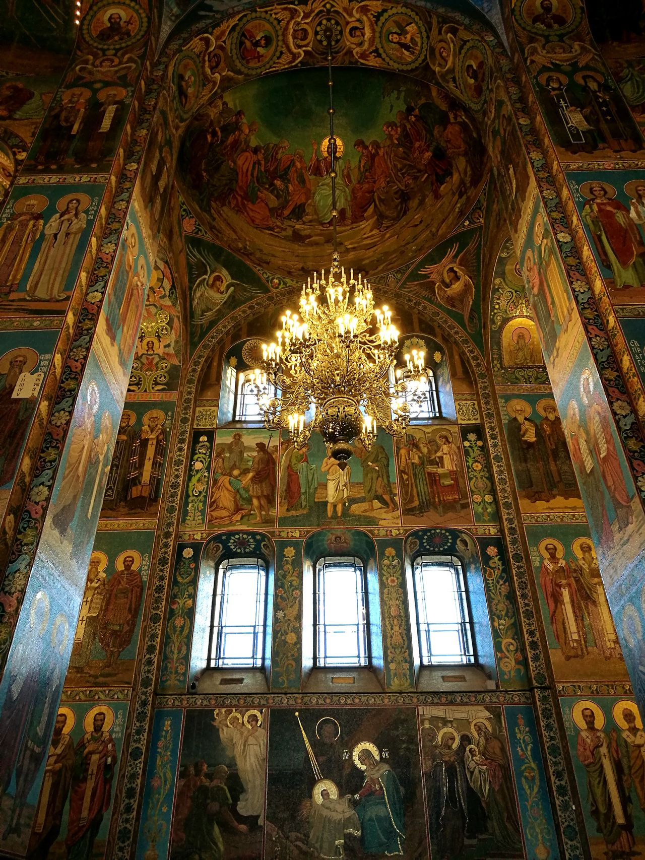СпасНаКрови Religion Indoors  Place Of Worship No People Spirituality Architecture Low Angle View Travel Destinations Gold Colored Horizontal Day