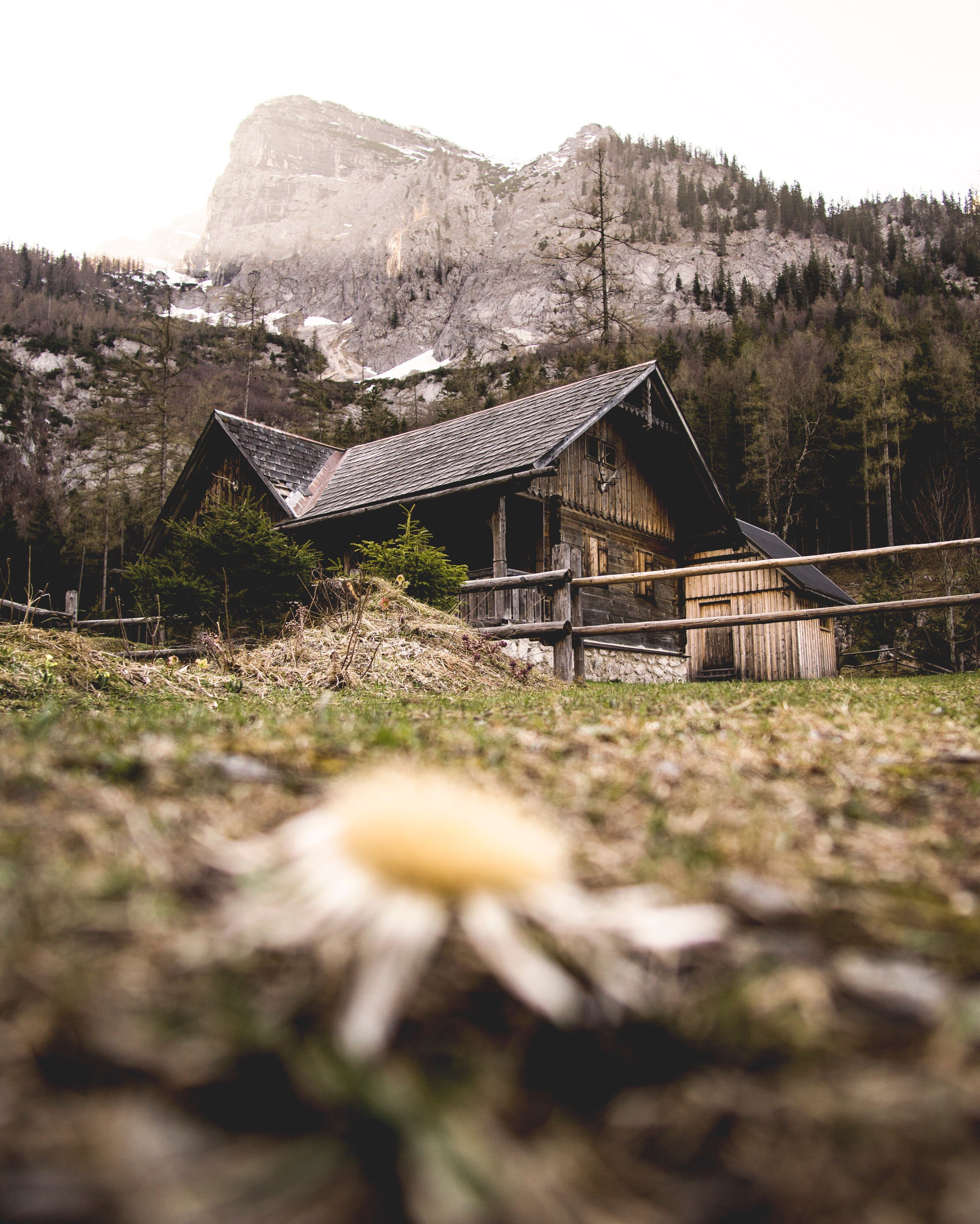 built structure, architecture, no people, wood - material, outdoors, building exterior, sky, day, mountain, grass, nature