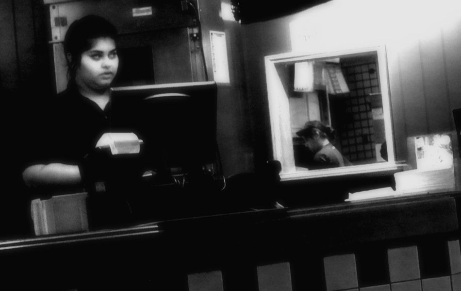 Cashier & Cook, Colesville, MD Blackandwhitephotography Leicacamera Mary Street Street Photography Streetphotography Working Women Young Adult Young Women
