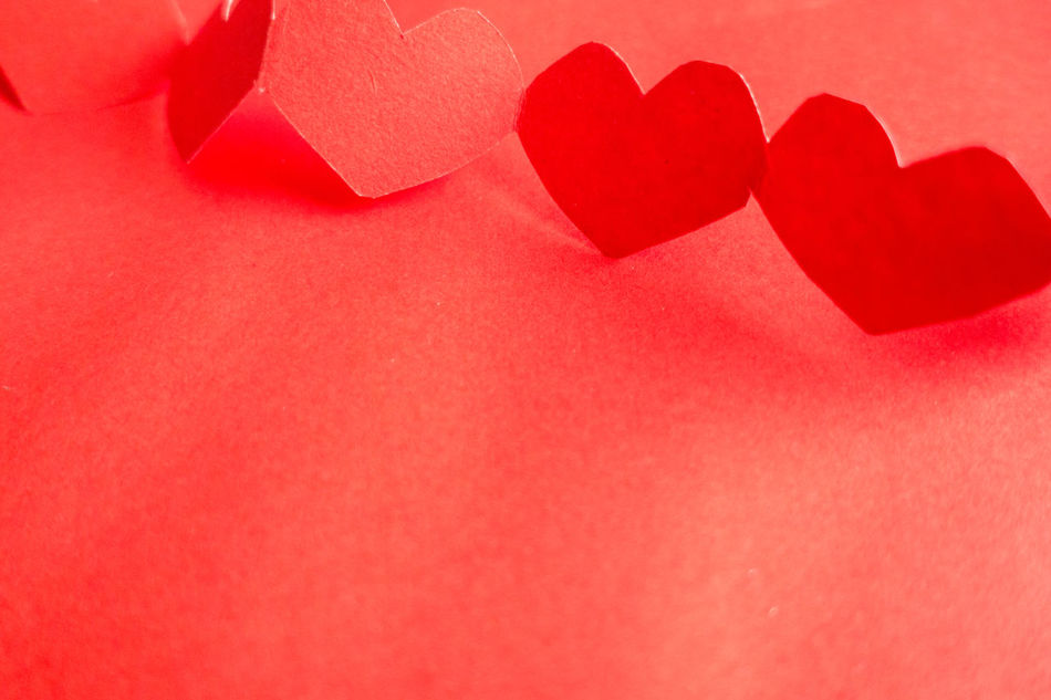 Backgrounds Close-up Day Heart Shape Indoors  Love No People Red Romance Valentine's Day - Holiday