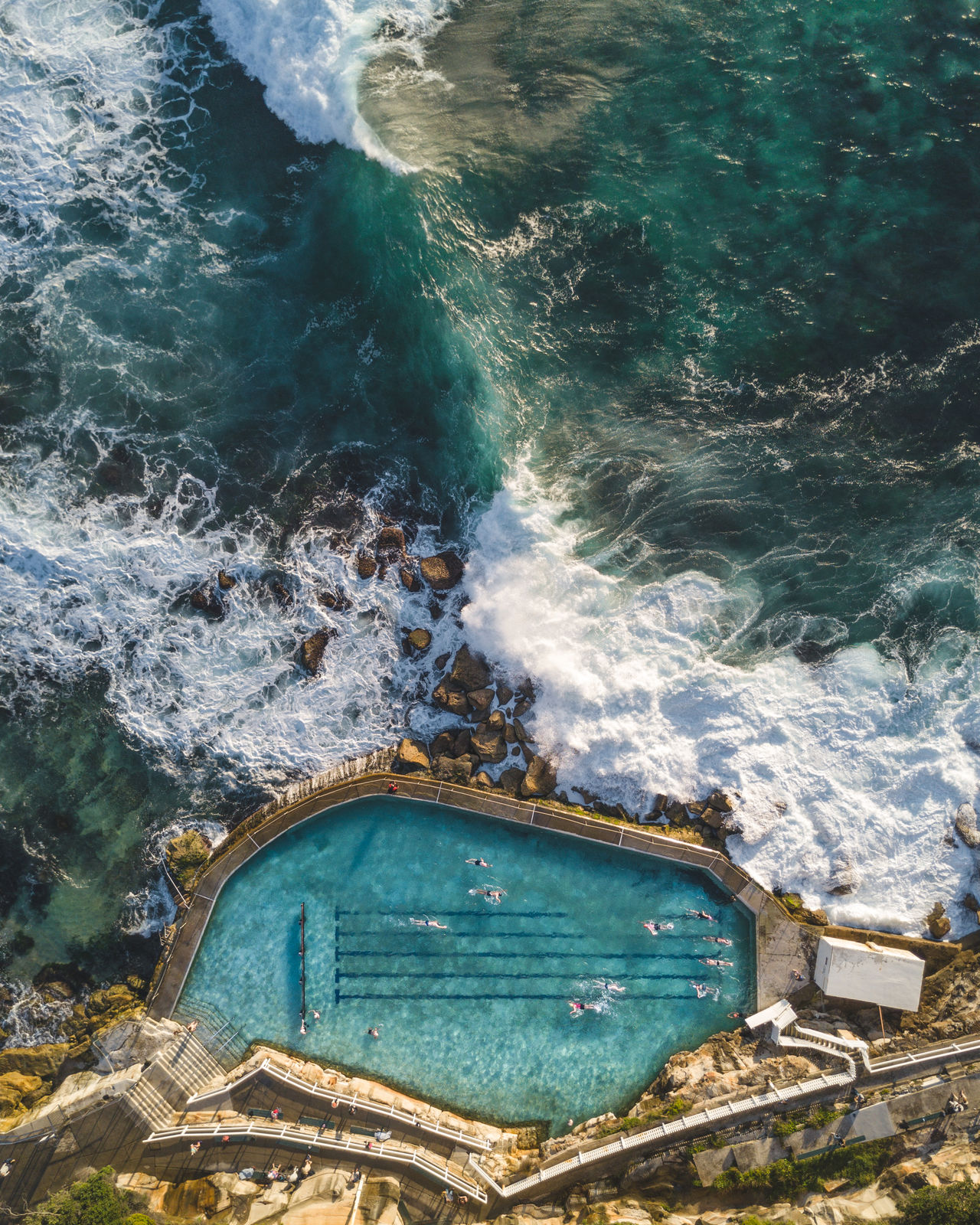 @itchban / www.itchban.com Architecture Beach Beauty In Nature Building Exterior Day High Angle View Nature No People Outdoors Rock Pool Sea Swimming Pool Tidal Pool Water Wave Fresh on Market 2017 The Great Outdoors - 2017 EyeEm Awards Live For The Story