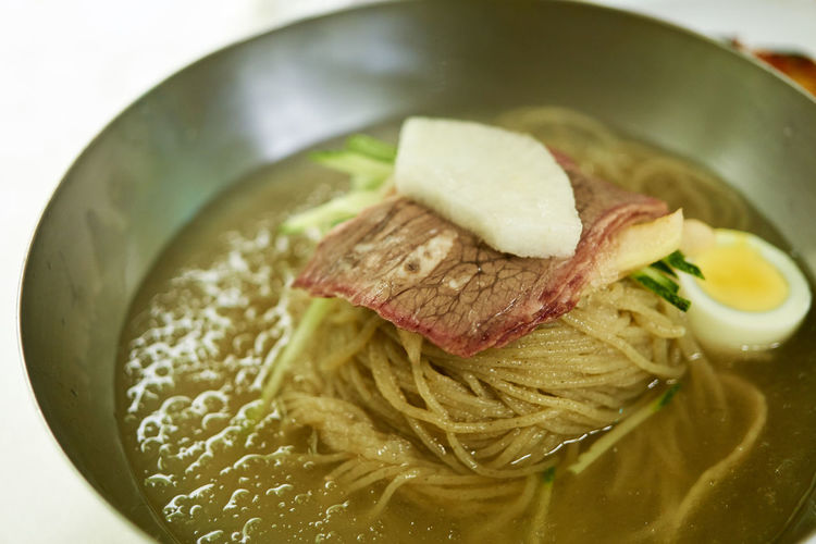 A6000 Bowl Close-up Cold Noodles Cooked Food Korean Food Ready-to-eat Zeiss32mmf18