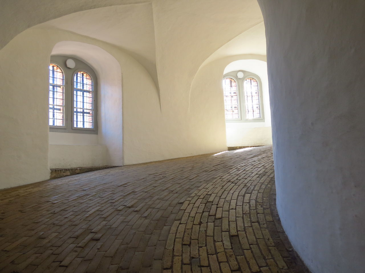 Arch Architecture Day History Indoors  No People Round Tower White Wall Window