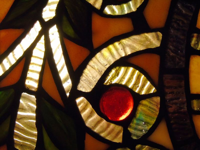 Detail Tiffany Lamp Beauty, Beautiful, Trend, Style, Class, Elegant, Home, Day Detail, Tiffany, Lamp, Red, Brown, Tiffany Lamp Illuminated Indoors  No People