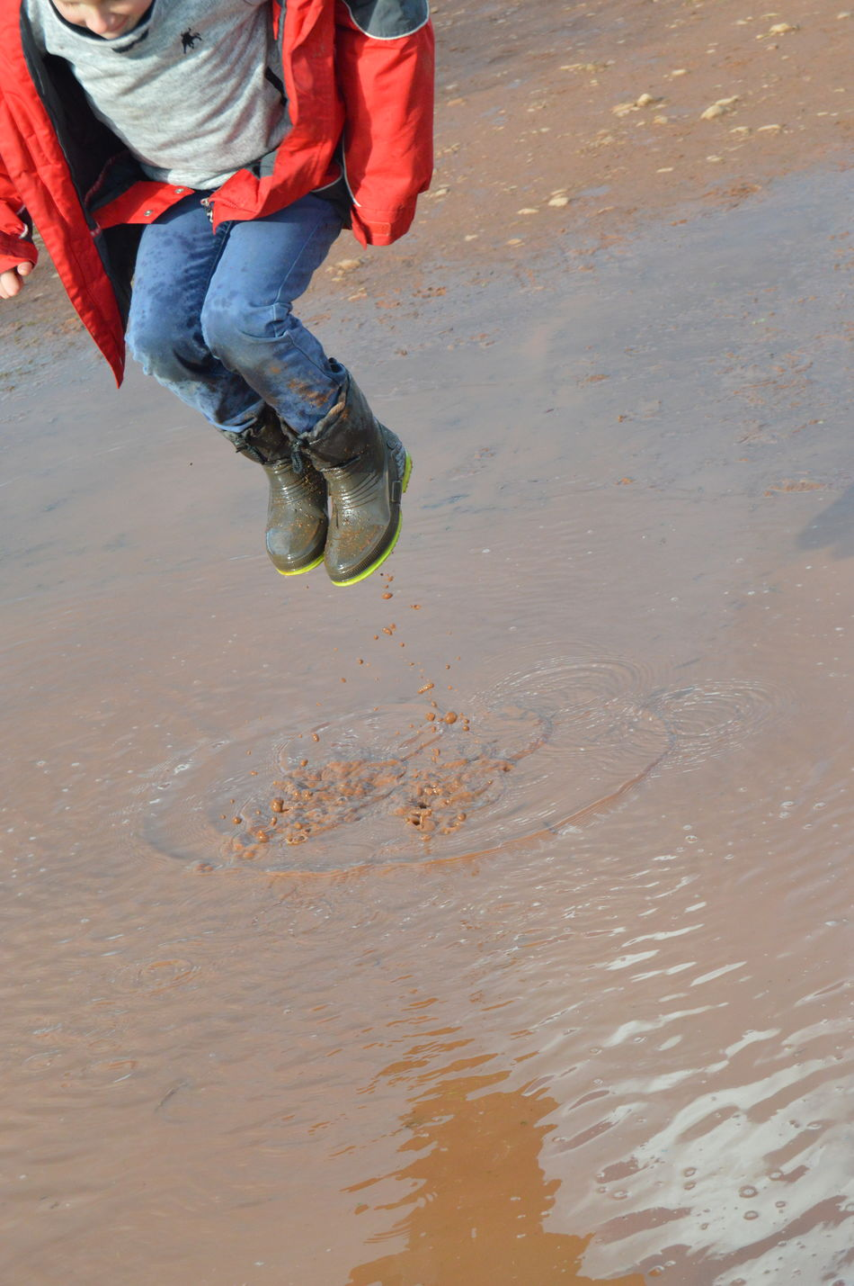 Showcase March A Walk On The Hills Family Puddle Muddy Puddles Jumping In Muddy Puddles Childhood Memories Kids Being Kids Water_collection Waterdrops Jumpshot Capturing Movement Capture The Moment Kids Having Fun No Edit/no Filter Splashing Water Jumping Shot