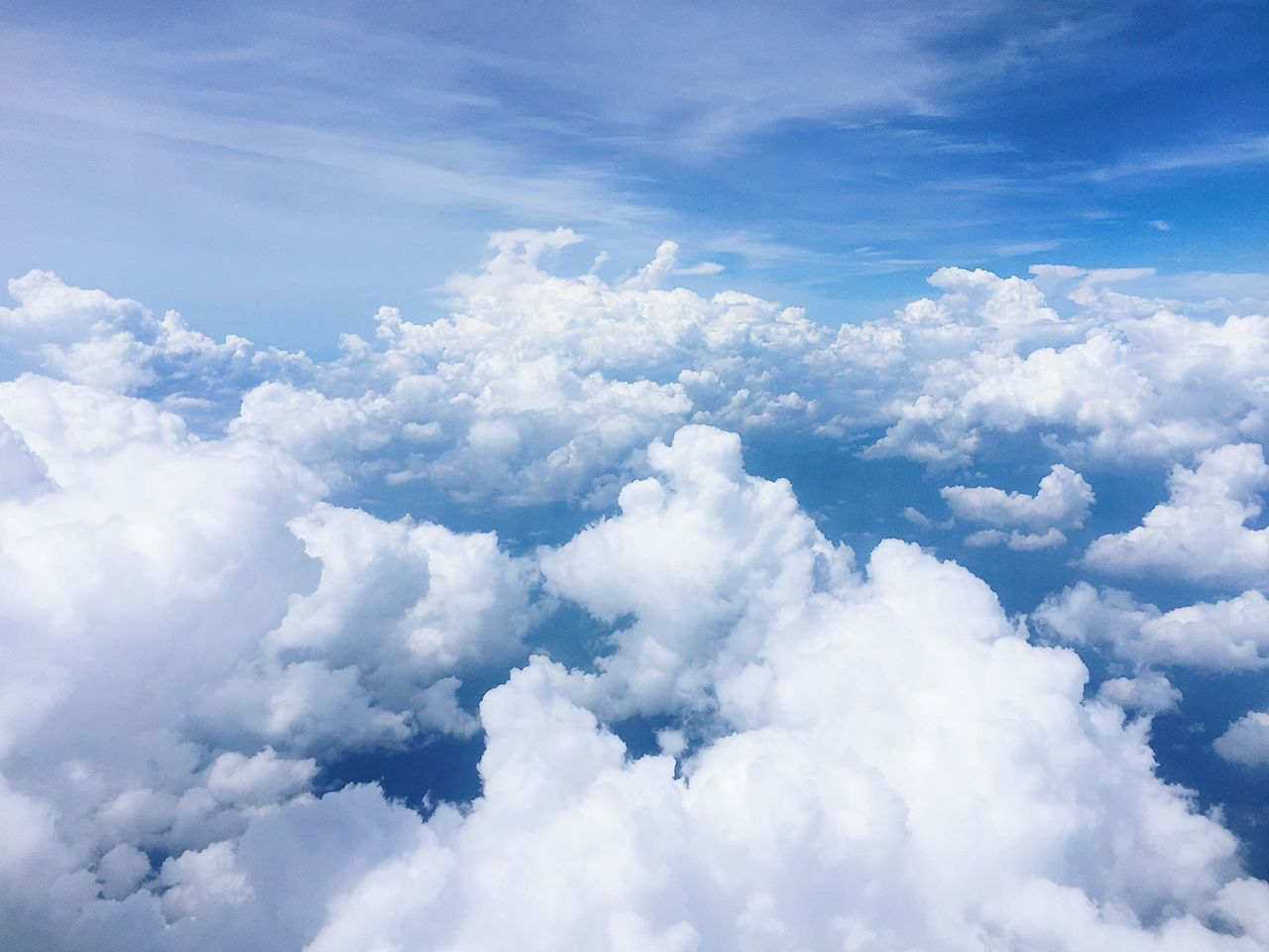 Backgrounds Beauty In Nature Blue Blue Sky Blue Wave Cloud - Sky Cloudscape Cumulus Cloud Day Low Angle View Nature No People Outdoors Scenics Sky Sky And Clouds Sky Only Sky_collection Skyporn Skyscraper Tranquility Flying High